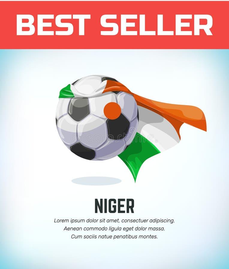 Il Niger, calcio nigeriano o pallone da calcio Squadra nazionale di calcio Illustrazione di vettore royalty illustrazione gratis