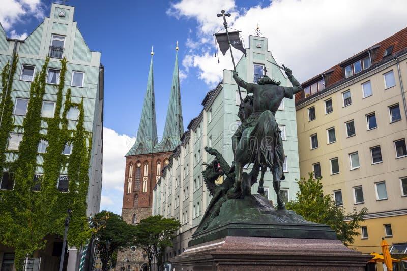 Il Nikolaikirche (chiesa tedesca di San Nicola) fotografia stock
