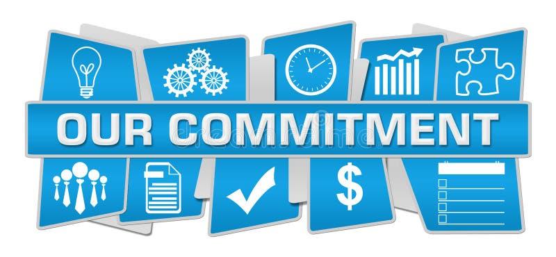 Il nostro blu di impegno su giù i simboli illustrazione di stock