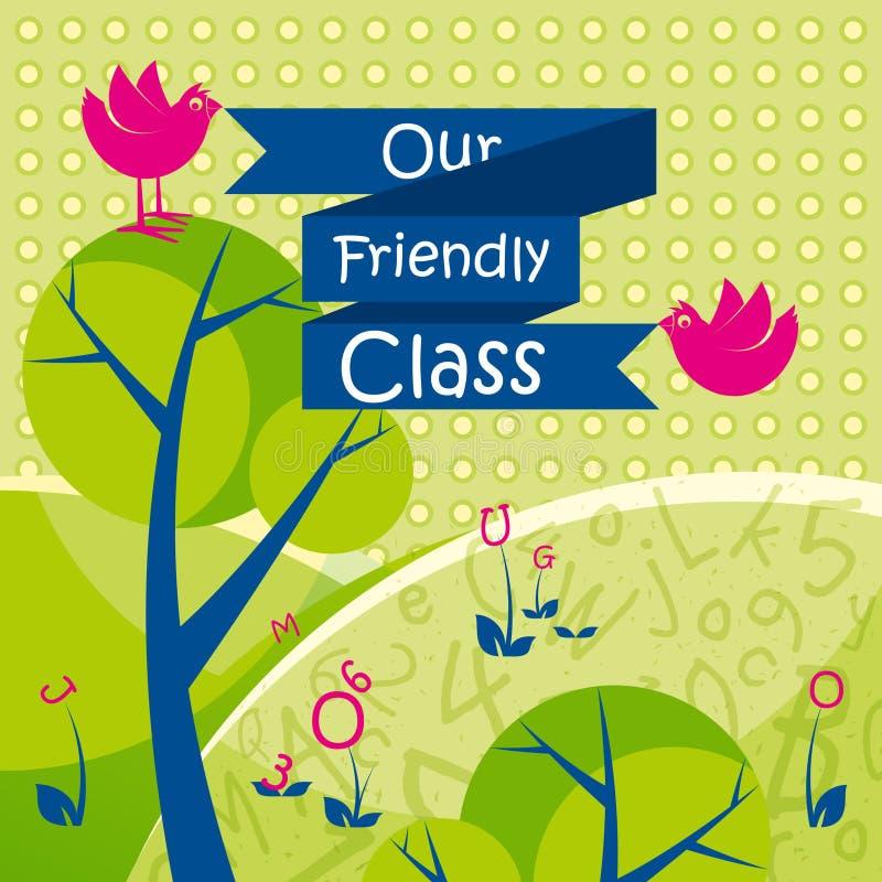 Il nostro fondo amichevole della classe royalty illustrazione gratis