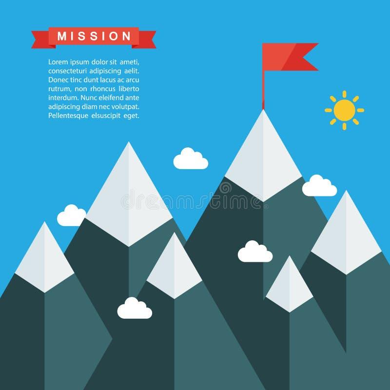 Il nostro modello della pagina di missione Illustrazione di successo Concetto di affari royalty illustrazione gratis