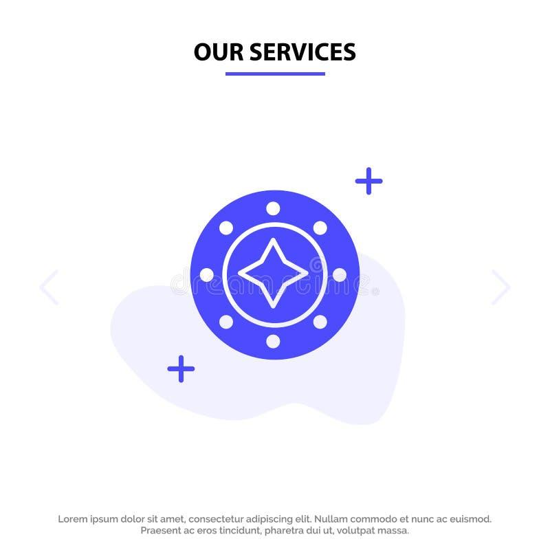 Il nostro universo di servizi, galassia, lustro, spazio, stella, modello solido della carta di web dell'icona di glifo dell'unive royalty illustrazione gratis