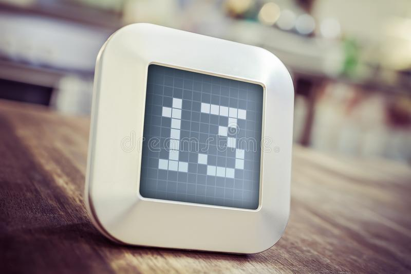 Il numero 13 su un calendario, su un termostato o su un temporizzatore di Digital immagini stock libere da diritti