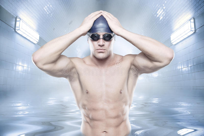 Il nuotatore fotografia stock libera da diritti