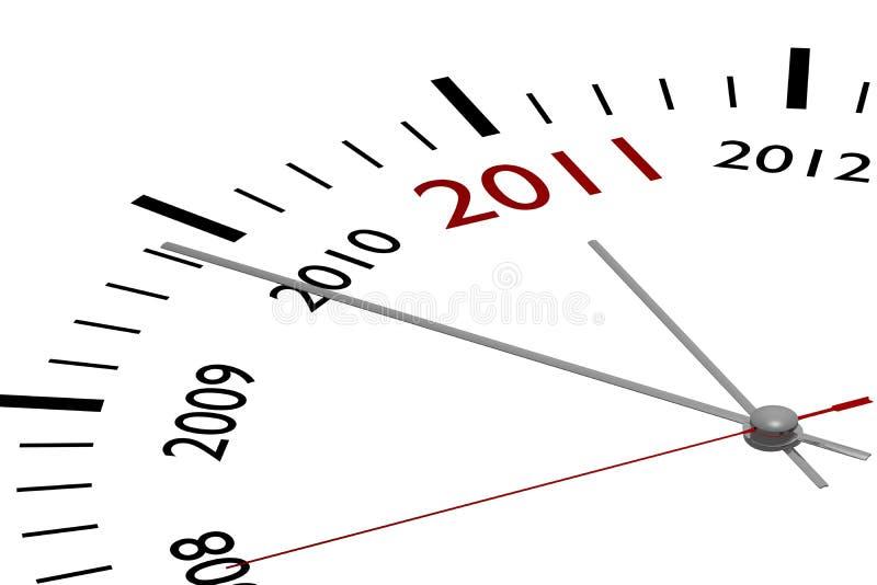 Il nuovo anno 2011 royalty illustrazione gratis