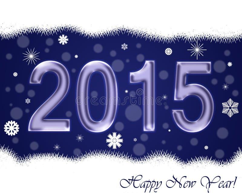 Il nuovo anno carda 2015 immagini stock