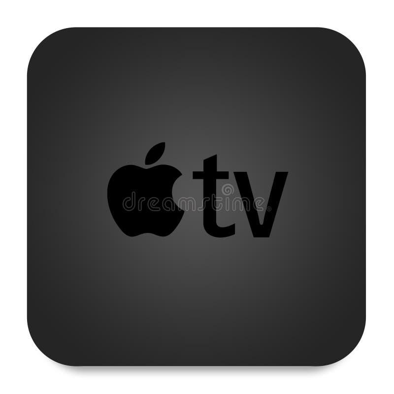 Il nuovo Apple TV illustrazione di stock