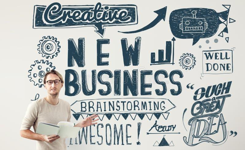 Il nuovo lancio di affari inizia sul concetto della visione fotografie stock libere da diritti