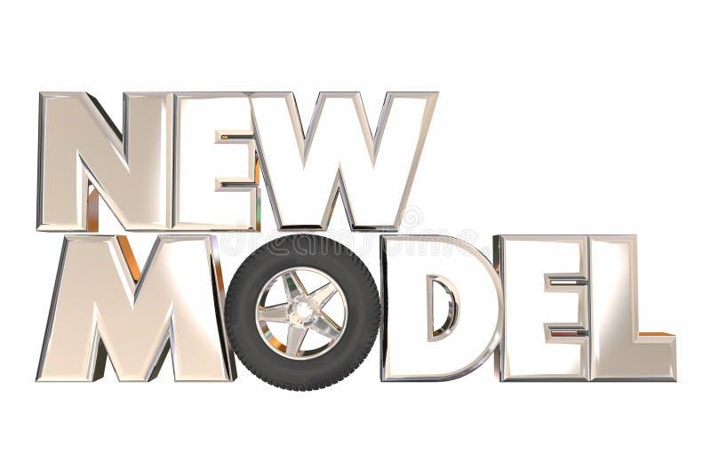 Il nuovo modello Vehicle Car Design rivela la ruota illustrazione vettoriale