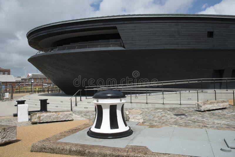 Il nuovo museo di Mary Rose fotografie stock libere da diritti