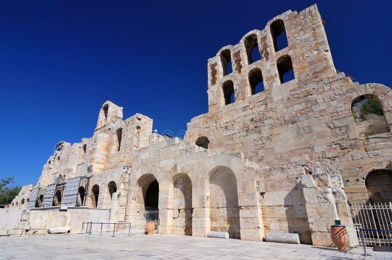 Il Odeon del teatro del Atticus di Herodes, Atene fotografia stock libera da diritti