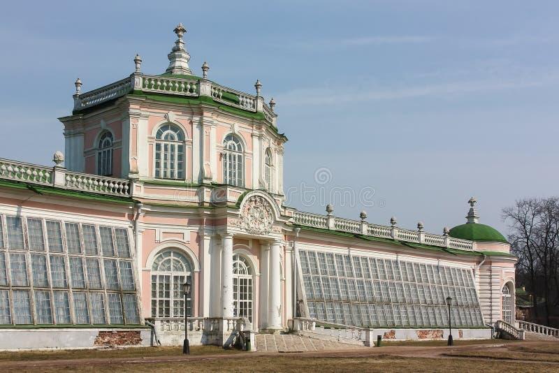 Il Orangerie in Kuskovo, Mosca fotografia stock libera da diritti