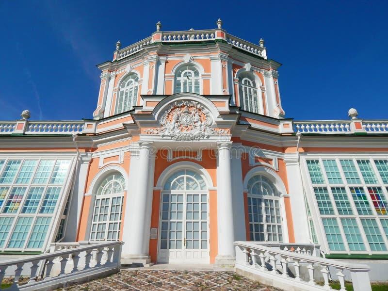Il Orangerie nell'insieme architettonico Kuskovo, Mosca del parco immagini stock libere da diritti