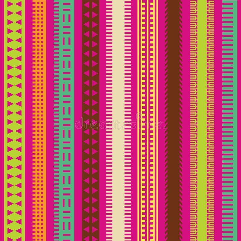 Il ornamental di colore allinea l'accumulazione illustrazione vettoriale