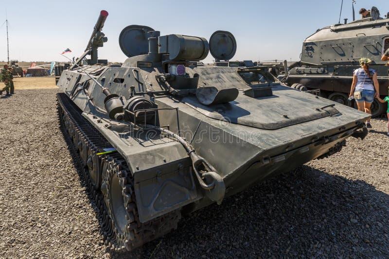 Il 9P149 Shturm-S è un sistema del distruttore di carro armato basato sul telaio di MT-LB fotografie stock libere da diritti