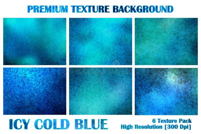 Il pacchetto premio blu ghiacciato ghiacciato di struttura sotto il lerciume dell'acqua distorce Rusty Abstract Pattern Backgroun illustrazione di stock