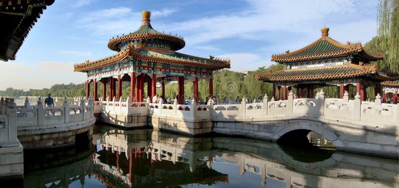 Il padiglione del Cinque-Drago della sosta di Beihai, Pechino fotografia stock