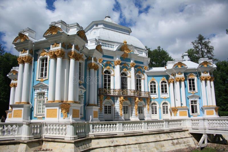 Il padiglione dell'eremo in Tsarskoye Selo immagini stock libere da diritti