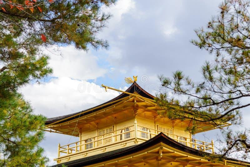 Il padiglione dorato nella stagione di autunno, tempio di Kinkakuji è Zen Buddhi immagine stock libera da diritti