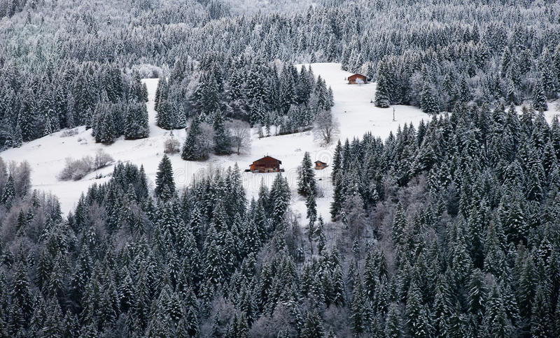 Il paesaggio alpino fotografia stock libera da diritti