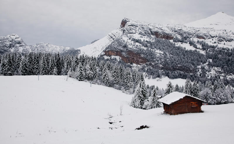 Il paesaggio alpino fotografie stock libere da diritti