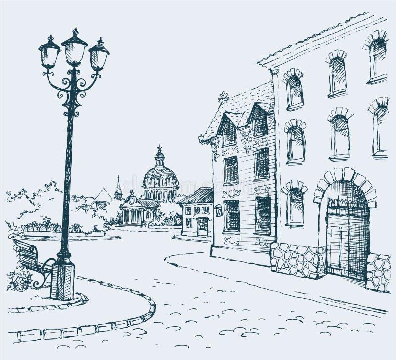 Il paesaggio architettonico illustrazione vettoriale