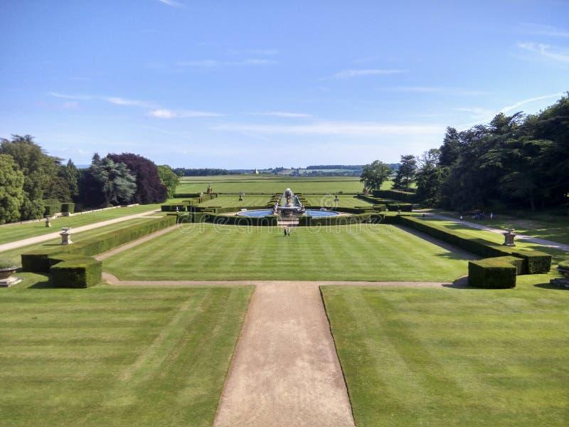 Il paesaggio in castello Howard, Inghilterra, Regno Unito immagine stock libera da diritti