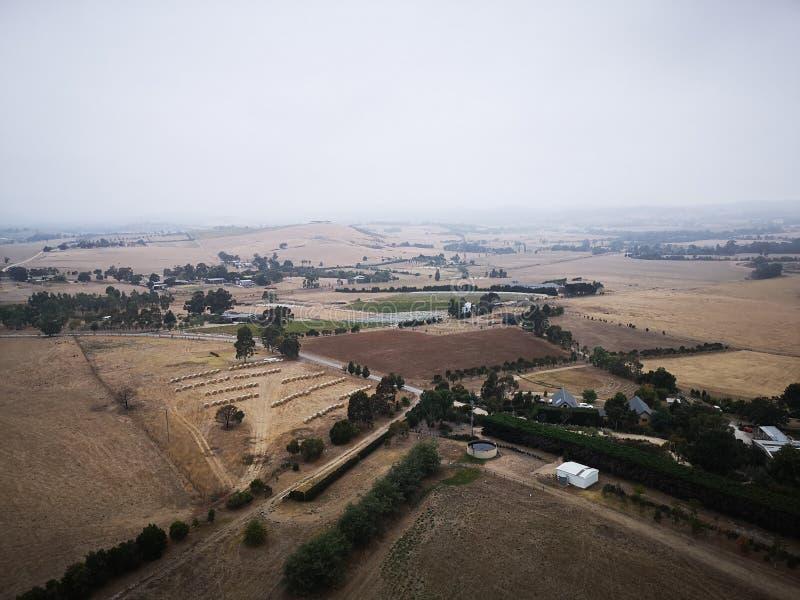Il paesaggio del farmanld da Melbourne fotografia stock