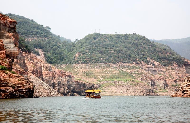 Il paesaggio del lago Jingniang in Handan fotografie stock libere da diritti