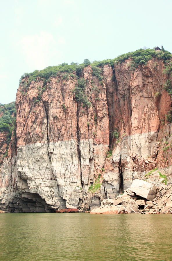 Il paesaggio del lago Jingniang in Handan immagine stock libera da diritti