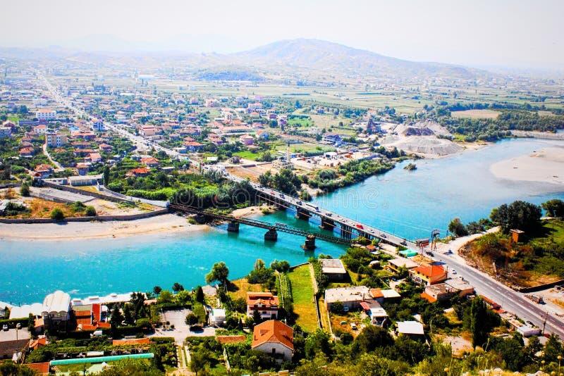 Il paesaggio dell'Albania fotografie stock