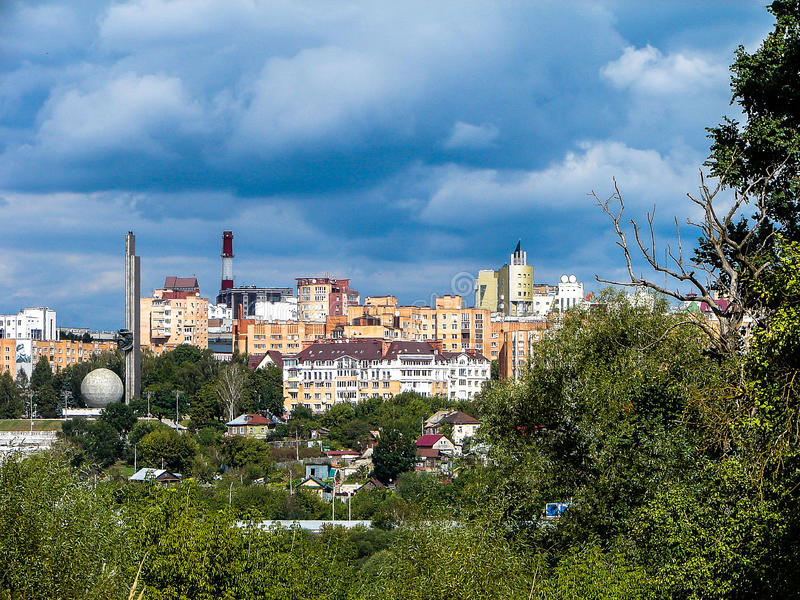 Il paesaggio della città di Kaluga in Russia fotografie stock libere da diritti