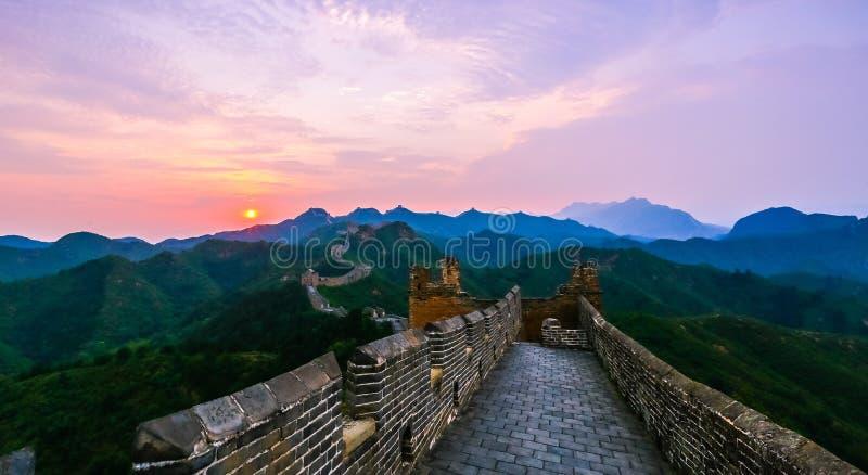 Il paesaggio della grande muraglia fotografia stock