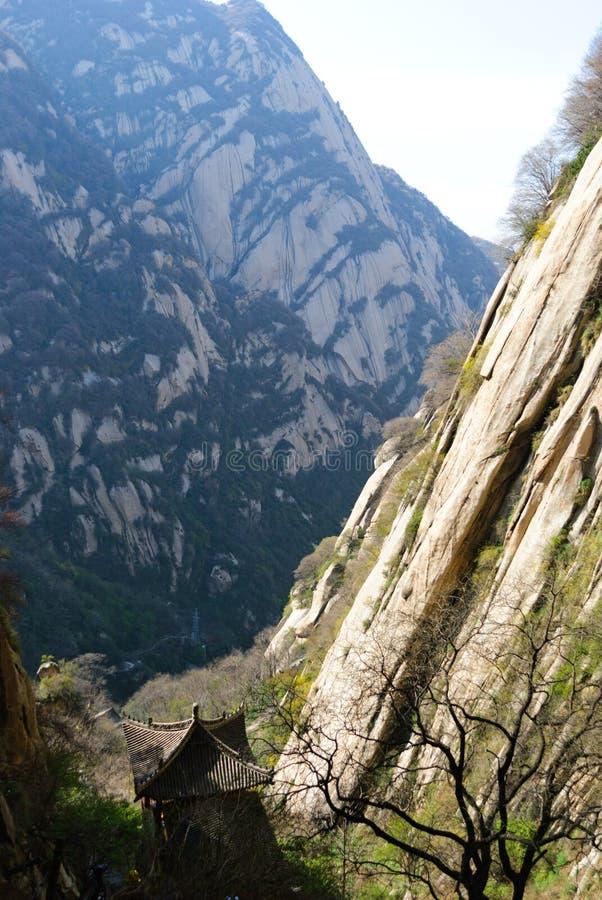 Il paesaggio famoso della montagna Huashan, Cina immagini stock libere da diritti
