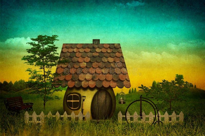 Paesaggio pastorale di FanÑy illustrazione vettoriale