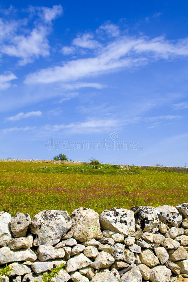 Il paesaggio siciliano immagini stock libere da diritti
