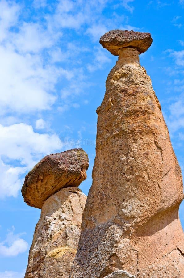 Il paesaggio spettacolare ha scolpito in tufo vulcanico tramite erosione Cappa fotografia stock