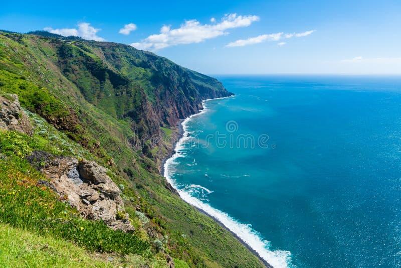 Il paesaggio sulle isole del Madera, vista da Ponta fa Pargo, Portogallo fotografia stock libera da diritti