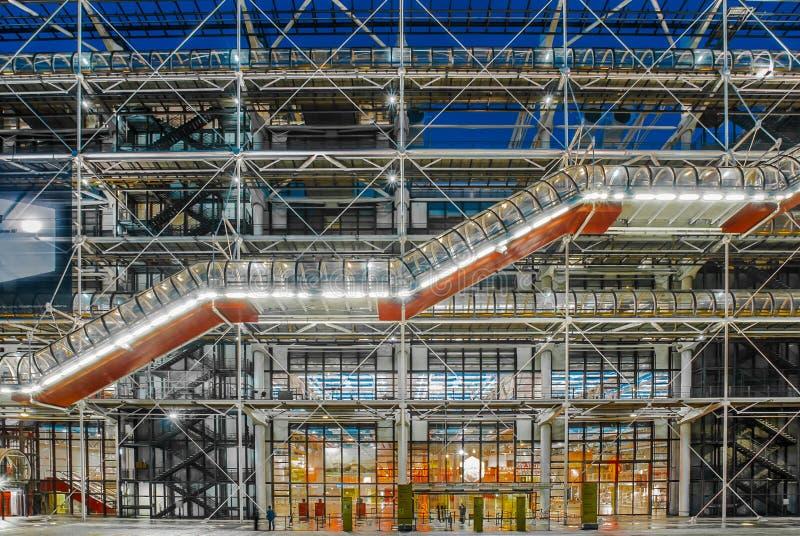 Il paesaggio urbano concentrare Francia di Parigi del beaubourg del museo di Pompidou immagini stock
