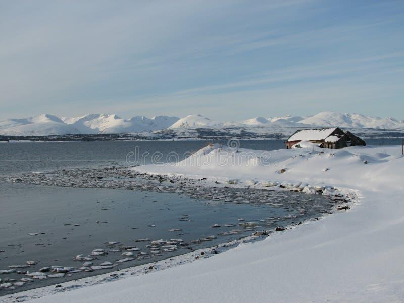 Il paese delle meraviglie artico di inverno fotografia stock