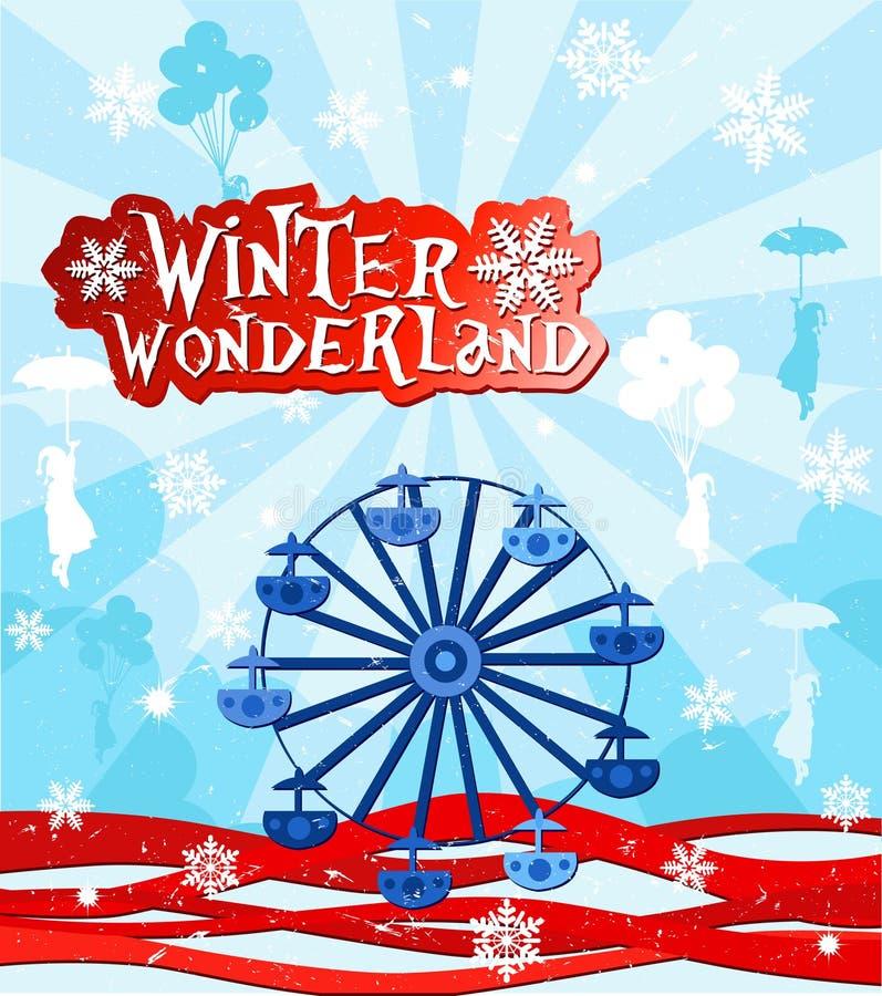 Il paese delle meraviglie di inverno illustrazione di stock