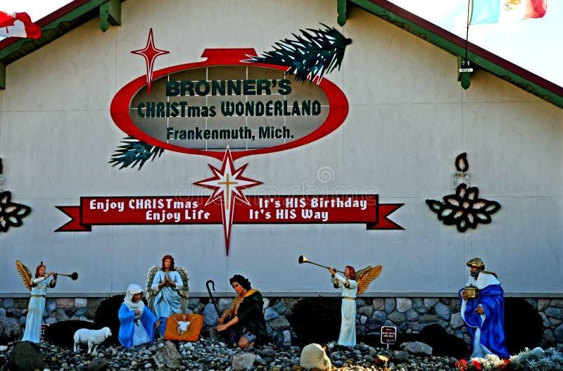 Il paese delle meraviglie Frankenmuth Michigan del Natale di Bronner fotografia stock libera da diritti