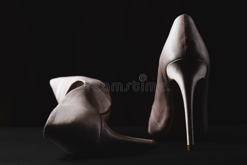 Il paio della femmina elegante calza il primo piano fotografia stock libera da diritti
