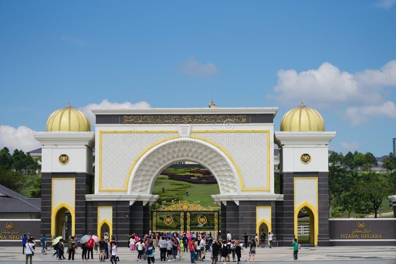 Il Palace di re reale anche conosciuto come Istana Negara immagine stock libera da diritti