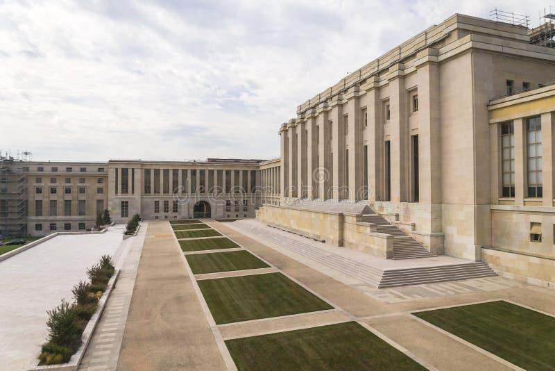 Il Palais des Nations immagine stock libera da diritti