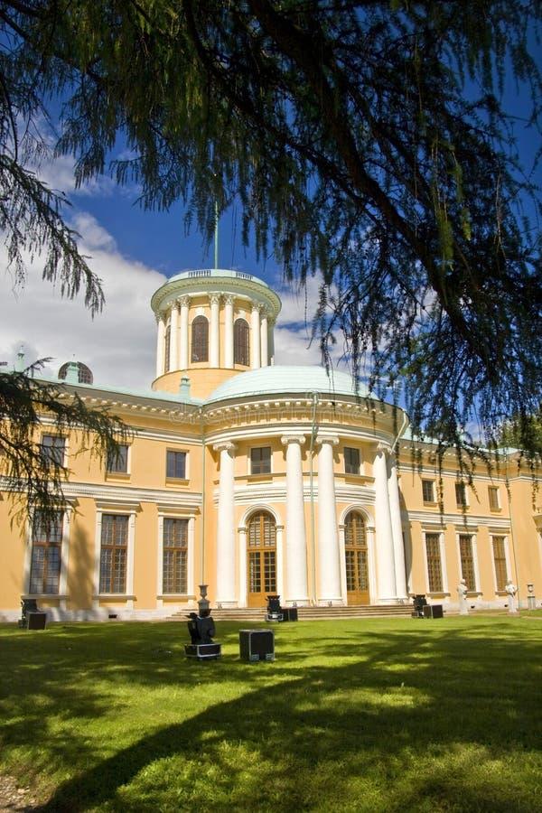 Il palazzo in Arkhangelskoye fotografia stock libera da diritti