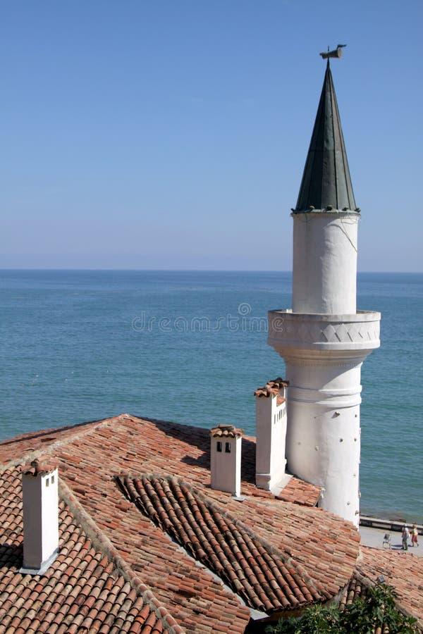 Il palazzo in Balchik, Bulgaria immagini stock
