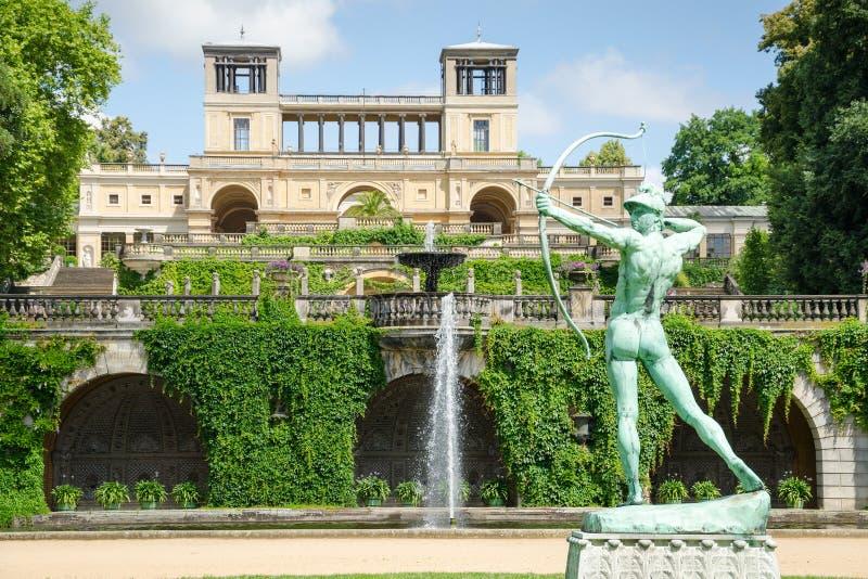 Il palazzo del giardino di inverno in parco Sanssouci, Potsdam, Germania fotografia stock