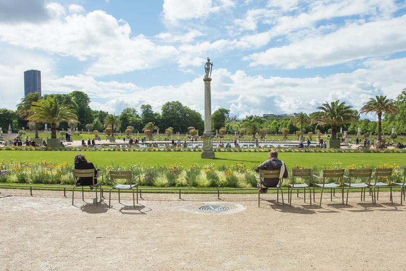 Il palazzo del Lussemburgo nel Jardin du Lussemburgo o Lussemburgo fotografia stock libera da diritti