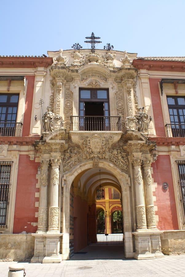 Il palazzo dell'arcivescovo, Siviglia, Andalusia, Spagna fotografia stock libera da diritti